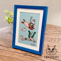 NEKO KEN アートフレーム水泳猫 ※数量限定 2101730032267