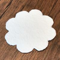doArt.型漉き因州和紙 白い まるいはな和紙 1枚 2101710016232