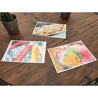 イロドリアル「ぼんぼん」・ポストカード3枚セット 2101730017004