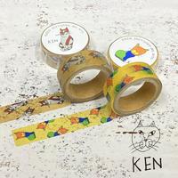 NEKO KENマスキングテープ2種セット 2101730024798