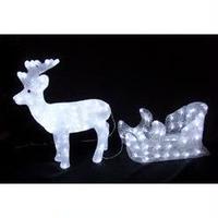 LED イルミネーション ディスプレイ 飾り 照明 ライティング クリスマス  トナカイ&ソリ【L3D271】CR-89