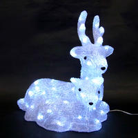 LED イルミネーション ディスプレイ 飾り 照明 ライティング クリスマス  マザー&ベイビートナカイ【L3D360】CR-89