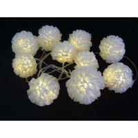 室内用 イルミネーション LED ボールフラワーライト 10球 ディスプレイ ショップ 装飾 プレゼント【LDCM079】CR-98