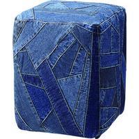 椅子 チェア【Azumaya 東谷】ジーンズスツール パッチワーク クッション インテリア 贈り物 カフェ ディスプレイ AZ2-98