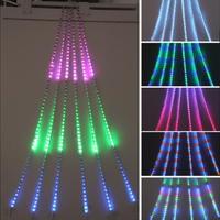 LED 室内用 イルミネーション 点滅 ディスプレイ 飾り 照明 ライティング クリスマス RGB ドレープライト  23パターン 【336球】 CR-63