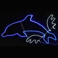 LED イルミネーション ディスプレイ 飾り 照明 ライティング クリスマス ジャンプイルカ【 L2DM265 】CR-72