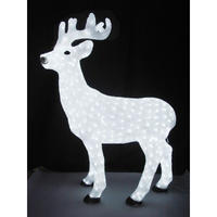 LED イルミネーション ディスプレイ 飾り 照明 ライティング クリスマス  スタンドトナカイ 【 L3D111 】 CR-87