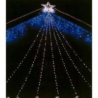 LED イルミネーション スタンダード 3m コントローラ付 ディスプレイ 飾り 照明 ライティング クリスマス ドレープライト スター付 星 庭 ガーデン 家 白 青 電球色 CR-36  LD3