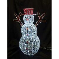 LED イルミネーション ディスプレイ 飾り 照明 ライティング クリスマス   雪だるま クリスタルスノーマン【L3D358】CR-83