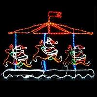 LED イルミネーション ディスプレイ 飾り 照明 ライティング クリスマス メリーゴーランド【 L2DM143 】CR-70