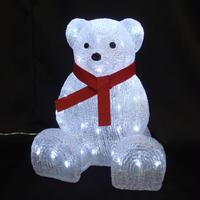 LED イルミネーション ディスプレイ 飾り 照明 ライティング クリスマス  リボンベア【 L3D248 】