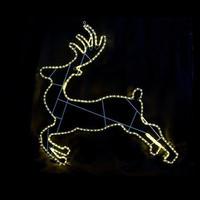 LED イルミネーション ディスプレイ 飾り 照明 ライティング クリスマス  ランディングトナカイ 【 L2DM283 】CR-72