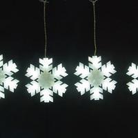 LED イルミネーション [ ホワイトスノーフレーク6連 ] ディスプレイ 飾り 照明 ライティング クリスマス 【 LDCM077 】CR-79