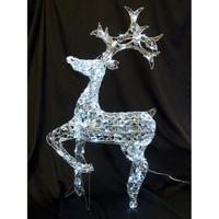 LED イルミネーション ディスプレイ 飾り 照明 ライティング クリスマス  クリスタルトナカイ【L3D365】CR-89