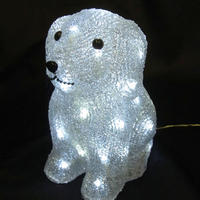 イルミネーション ディスプレイ 飾り 照明 ライティング クリスマス  ドッグ 【L3D334】