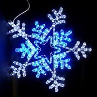 LED イルミネーション ディスプレイ 飾り 照明 ライティング クリスマス  雪 スノーフレーク 白・青色【L2DM701】CR-76