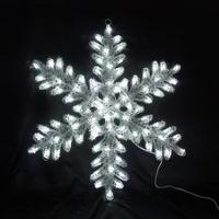 イルミネーション ディスプレイ 飾り 照明 ライティング クリスマス  クリスタルスノーフレーク80㎝ 【 L2DM236 】