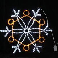 イルミネーション ディスプレイ 飾り 照明 ライティング クリスマス  雪 LEDスノーフレーク 白・黄色【L2DM239】CR-75