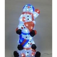 LED イルミネーション ディスプレイ 飾り 照明 雪だるま ライティング クリスマス   スリースノーマン【L3D601】CR-83