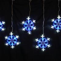 イルミネーション ディスプレイ 飾り 照明 ライティング クリスマス  雪 結晶 LEDスノーフレーク つらら 白&青色 8連【LDCM066】CR-79