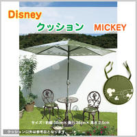 アウトレット 新品 ディズニー MICKEY ミッキーマウス クッション 椅子 座布団 丸 グリーン 紐付き プレゼント 贈り物 TK