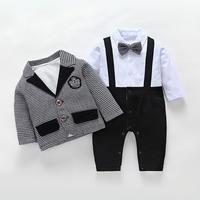子供服 長袖フォーマル服スーツ タキシード
