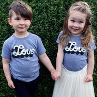 親子ペアルック LOVE    Tシャツ