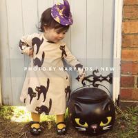 mini rodini ミニロディーニ   CAT LONG SLEEVE DRESS  ワンピース  定価$69