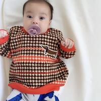 mini rodini ミニロディーニ HOUNDSTOOTH SWEATSHIRT シャツ スウェット 定価$75