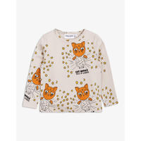 mini rodini ミニロディーニ CAT ADVICE LONG SLEEVE T-SHIRT