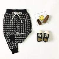 Black Design warm Pants