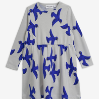 mini rodini ミニロディーニ    FLYING BIRDS LONG SLEEVE DRESS  ワンピース  定価$69