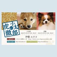 オリジナル!印鑑風ロゴ入り名刺【2匹までOKデザイン】