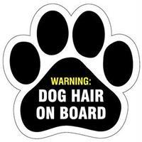 """カーマグネット """"Dog Hair on Board""""【送料無料】"""