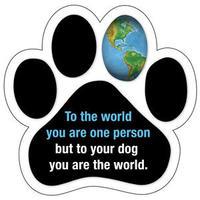 """カーマグネット """"To your dog you are the world""""【送料無料】"""