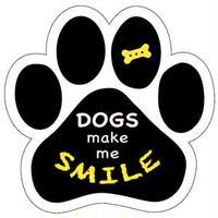 """カーマグネット """"Dogs make me smile""""【送料無料】"""