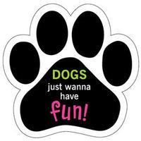 """カーマグネット """"Dogs just wanna have Fun!""""【送料無料】"""