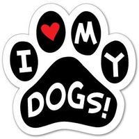 """カーマグネット """"I love my dogs""""【送料無料】"""