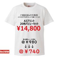 LINE@にて打ち合わせ済みの方限定注文品(A3プリント20枚セット)