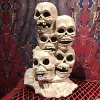 Vintage  Ceramic Skull Tower  Lamp