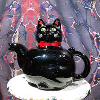 Vintage Shafford Black Cat  Tea Pot