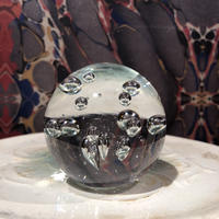 Vintage Clear Art Glass Paperweight