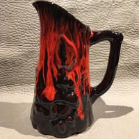 Vintage Black&Red Ceramic Creamer