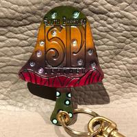 South  Paradiso  Leather  Mushroom Key Chain