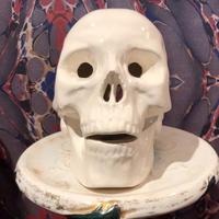 Vintage Ceramic White Skull