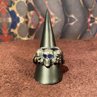 Vintage  Blue Eye Skull&Snake  Ring