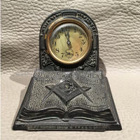 Vintage  Masonic  Holy  Bible  Desk  Clock