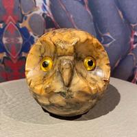 Vintage Alabaster Owl