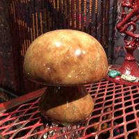 Vintage  Alabaster Mushroom Bookend