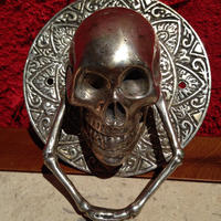 Skull  Door  Knocker  【small   size】   from  SPAIN